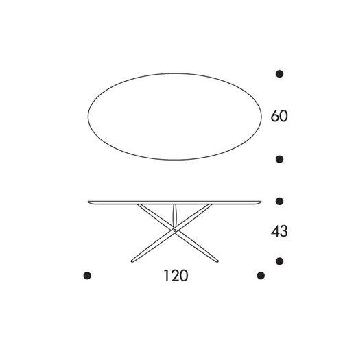Artek Ovalette table, walnut
