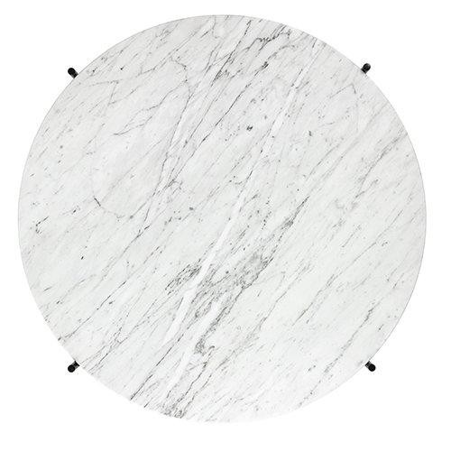 Gubi TS sohvap�yt�, 80 cm, musta - valkoinen marmori