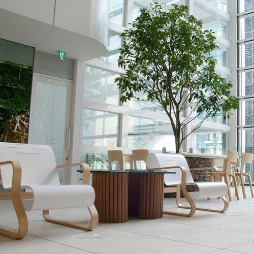 Artek Aalto chair 66, black linoleum