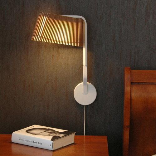 Secto Design Lampada da parete Owalo 7030, betulla