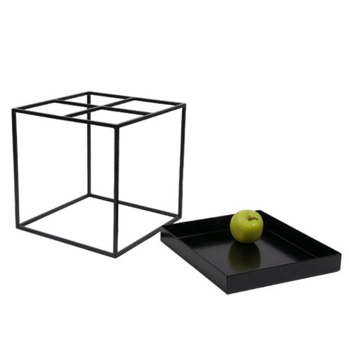 Hay Tray table small square, black