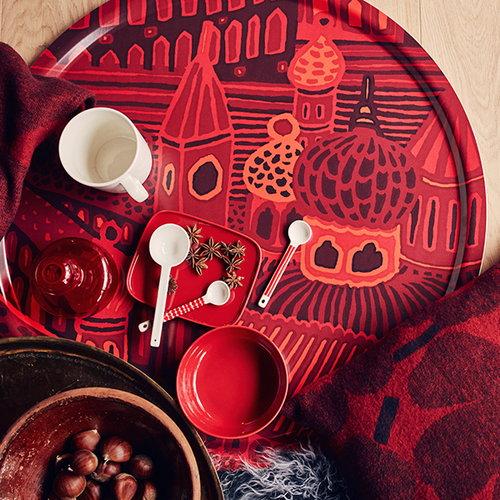Marimekko Flower vase, red