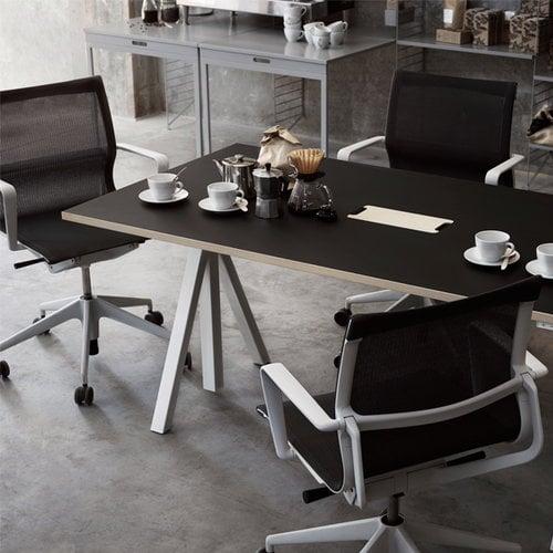 String String Works height adjustable work desk, 140 cm, charcoal