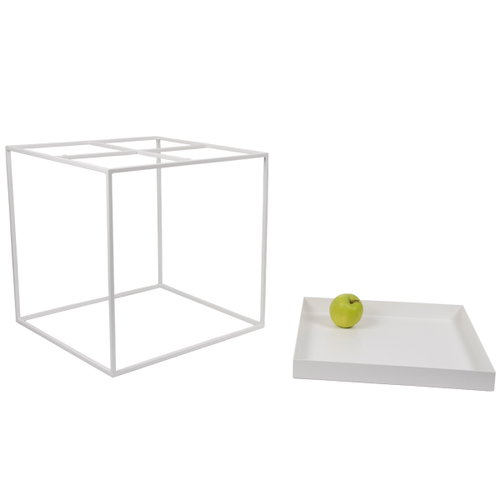 Hay Tray table medium square, white