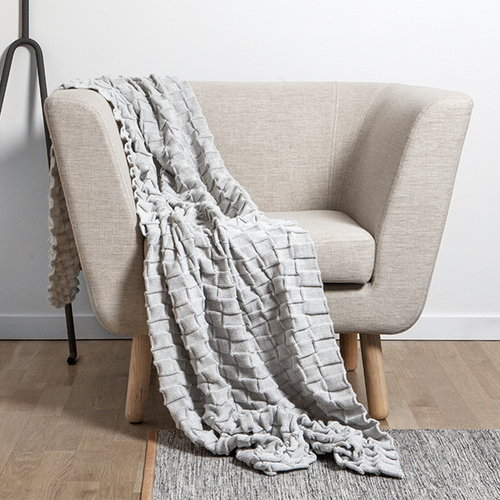 Design House Stockholm Curly throw, light grey