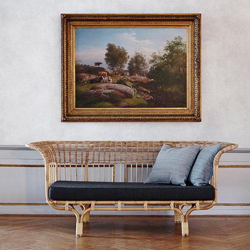 Sika-Design Belladonna sofa, dark grey seat cushion