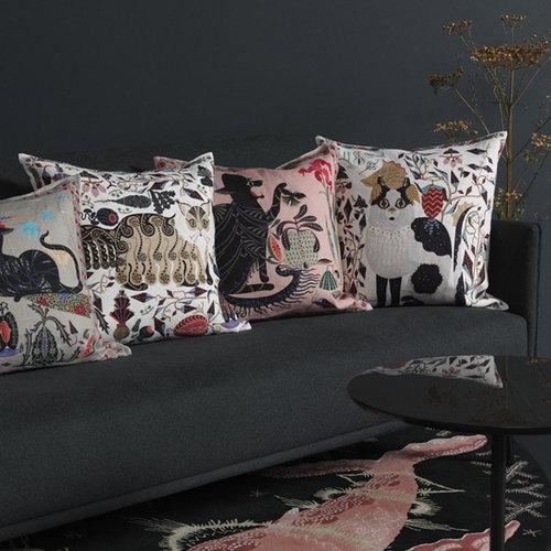 Klaus Haapaniemi Les Chats Ryder cushion cover, linen