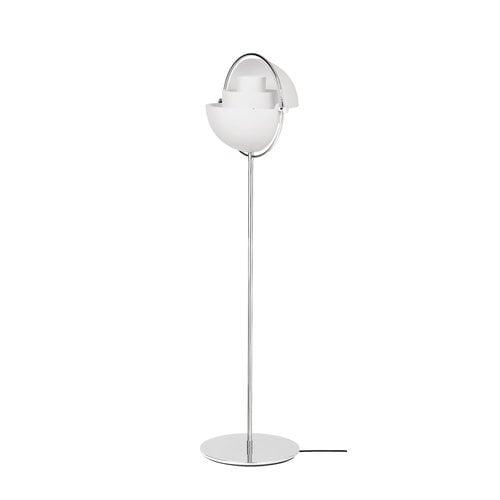 Gubi Multi-Lite lattiavalaisin, kromi - valkoinen