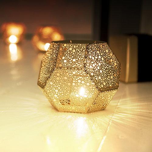 Tom Dixon Etch candleholder, brass