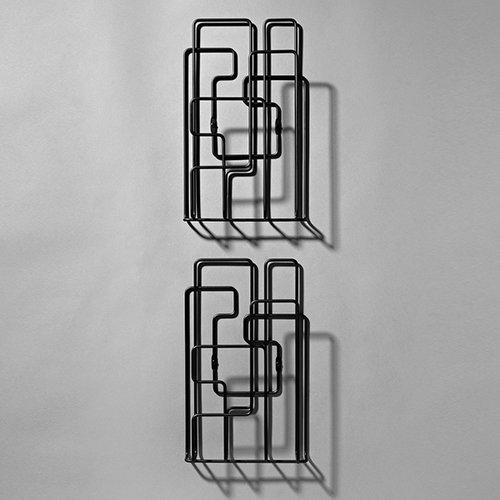 Minus Tio Little Saturday magazine rack, 2 pcs, black