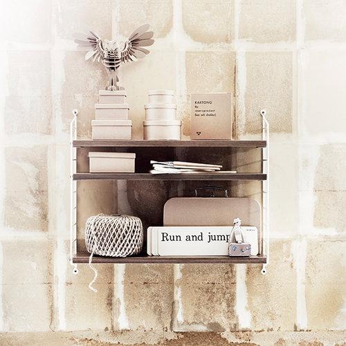 String String Pocket shelf, walnut-white