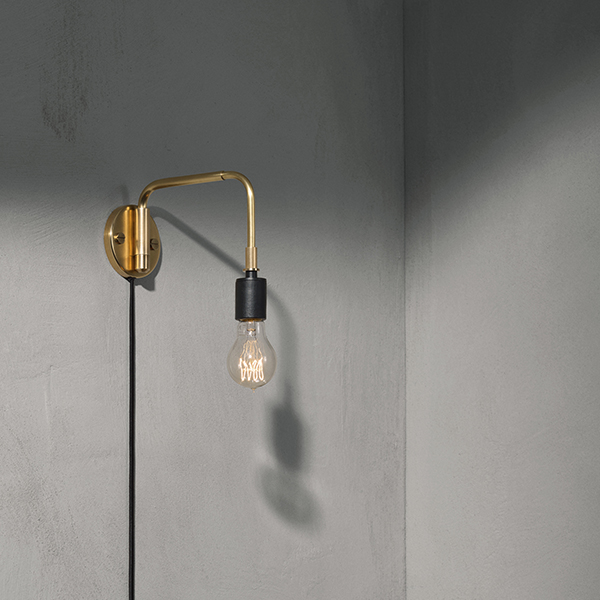 Wall Lamps Brass : Menu Tribeca Staple wall lamp, brass Finnish Design Shop