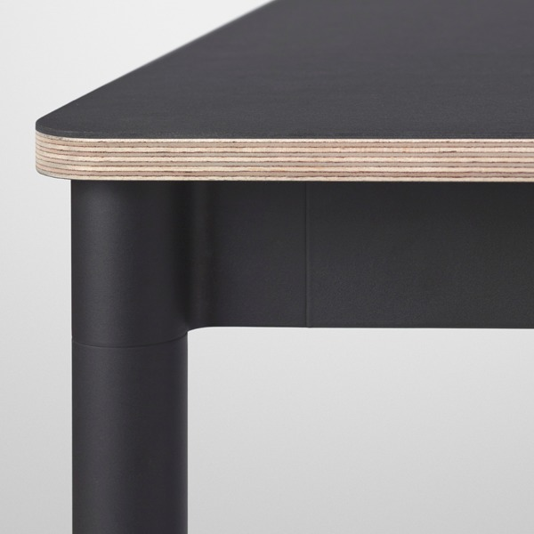 Muuto Base Table Round 110 Cm Linoleum With Plywood Edges