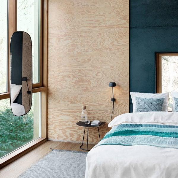 Muuto Framed mirror, large, grey | Finnish Design Shop