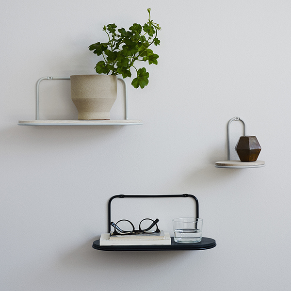 Skagerak Wire Shelf, round, silver white | Finnish Design Shop