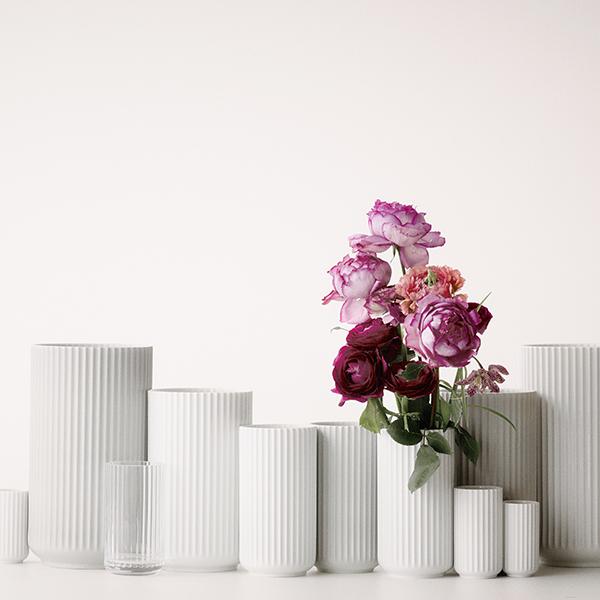 Fantastisk! Fantastisk mad Lyngby Porcelain Lyngby porcelain vase, 20 cm, white | Finnish IV79