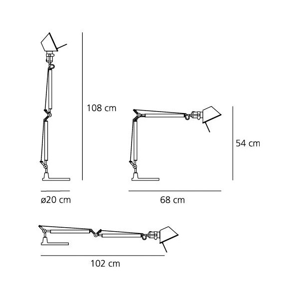 Artemide Tolomeo Mini Table Lamp Black Finnish Design Shop