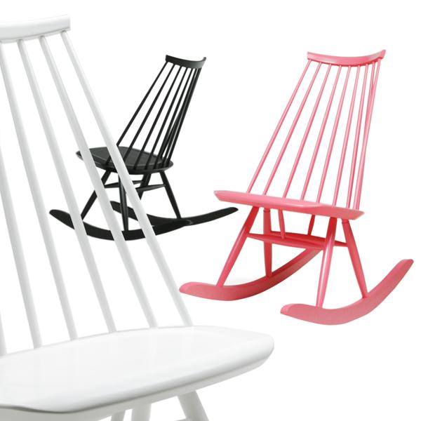 Artek sedia a dondolo mademoiselle nera finnish design shop - Sedia dondolo design ...