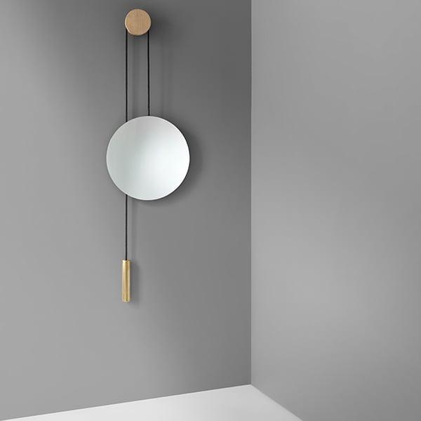 New Works Specchio da parete Rise & Shine, ottone   Finnish Design Shop
