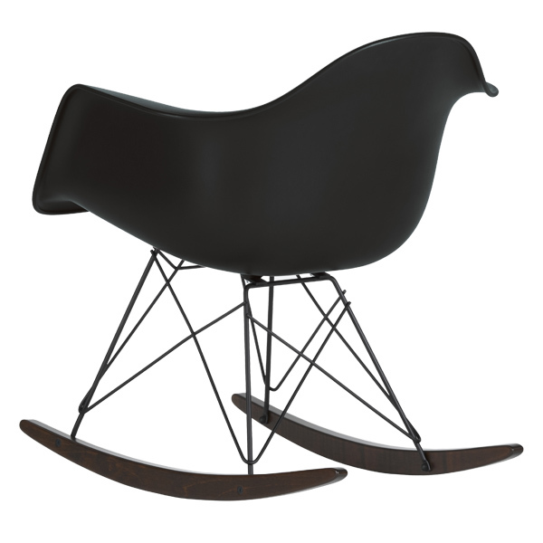 Vitra eames rar rocking chair full black finnish design - Rocking chair vitra ...