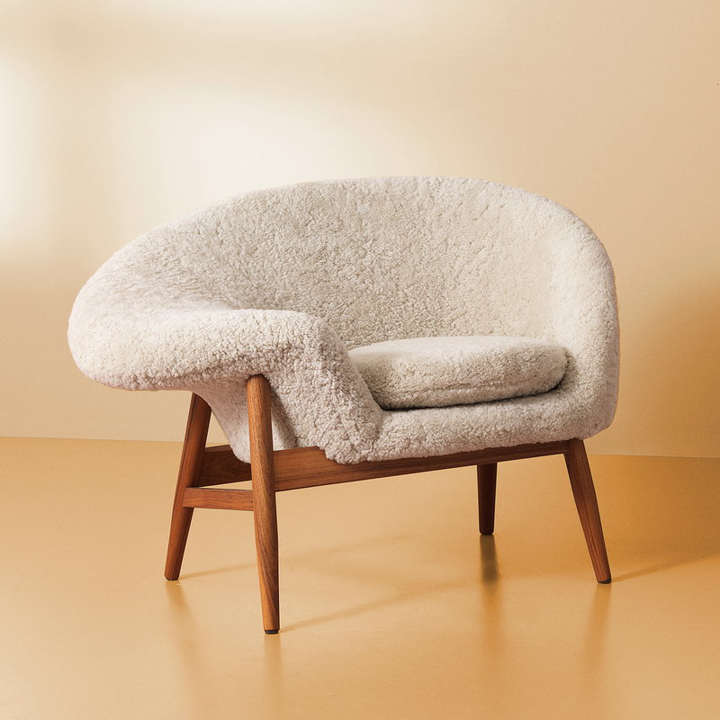 Warm Nordic Fried Egg Lounge Chair Moonlight Sheepskin Finnish Design Shop