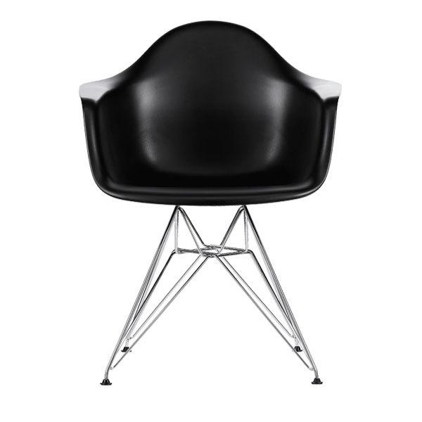 Eames DAR Chair, Black   Chrome