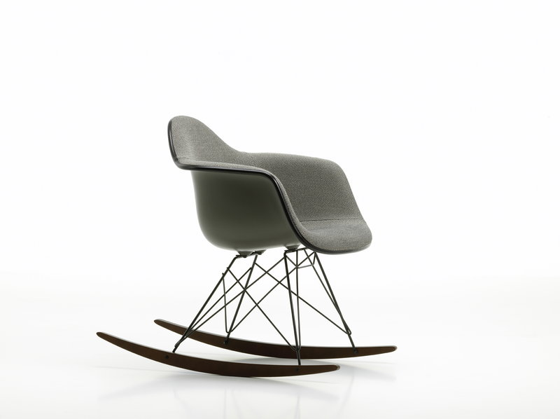 Fine Eames Rar Rocking Chair Upholstered Mother Of Pearl Black Inzonedesignstudio Interior Chair Design Inzonedesignstudiocom