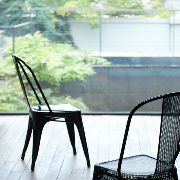 Tolix Chair A Black Finnish Design, Tolix Outdoor Chair