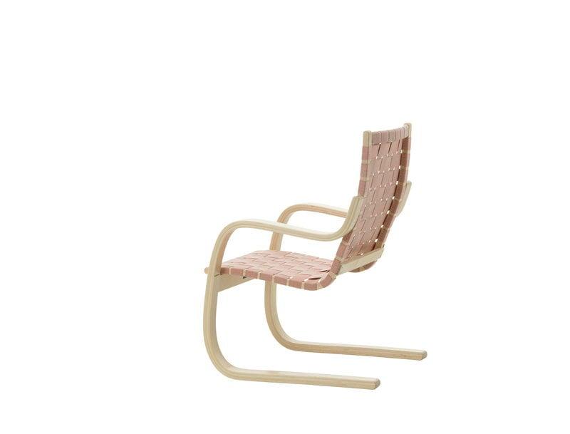 Artek Aalto armchair 406, birch - natural/red webbing ...
