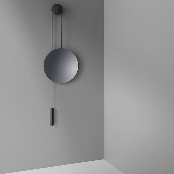 New Works Rise Shine Wall Mirror Black Steel