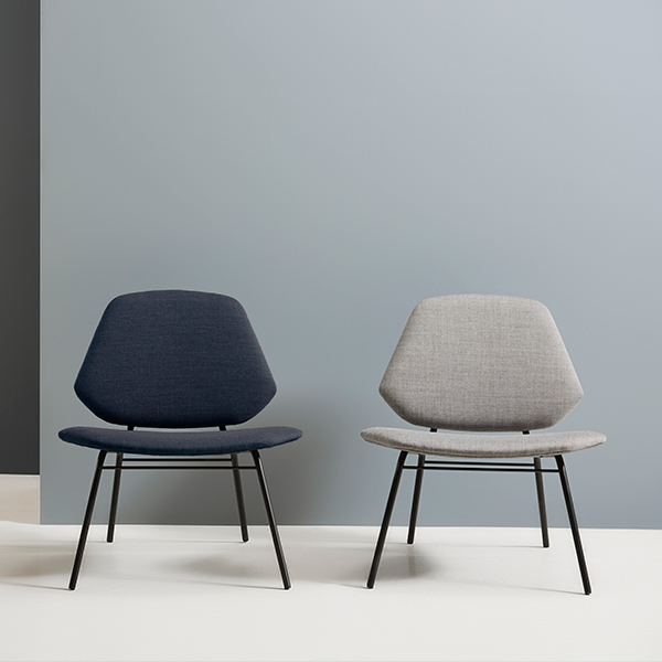 Woud Lean Lounge Chair Dark Blue Finnish Design Shop