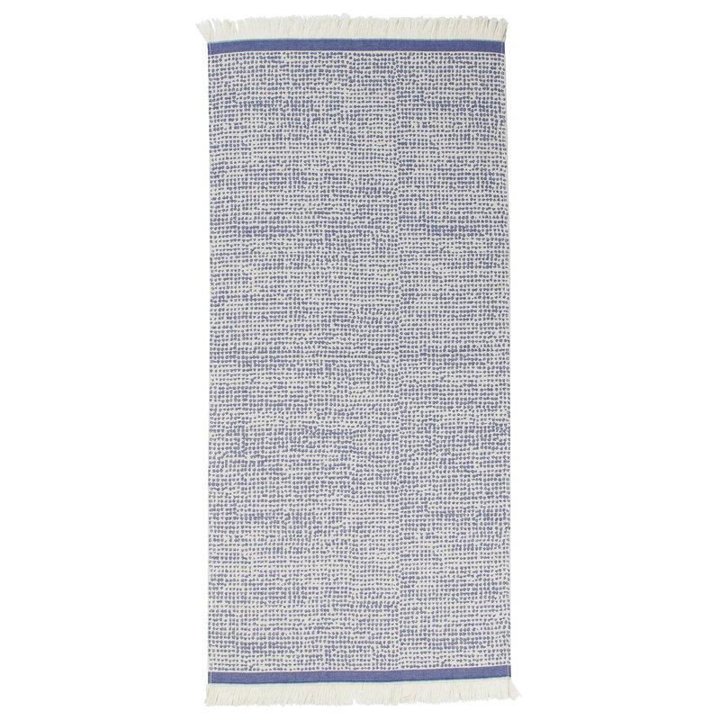 Paisley Blue White Cotton 6-Piece Bath Towel Set