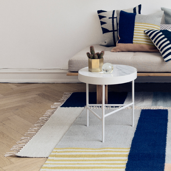 ferm living kelim rug squares small finnish design shop. Black Bedroom Furniture Sets. Home Design Ideas