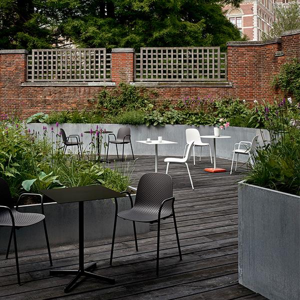 hay neu table round light grey finnish design shop. Black Bedroom Furniture Sets. Home Design Ideas