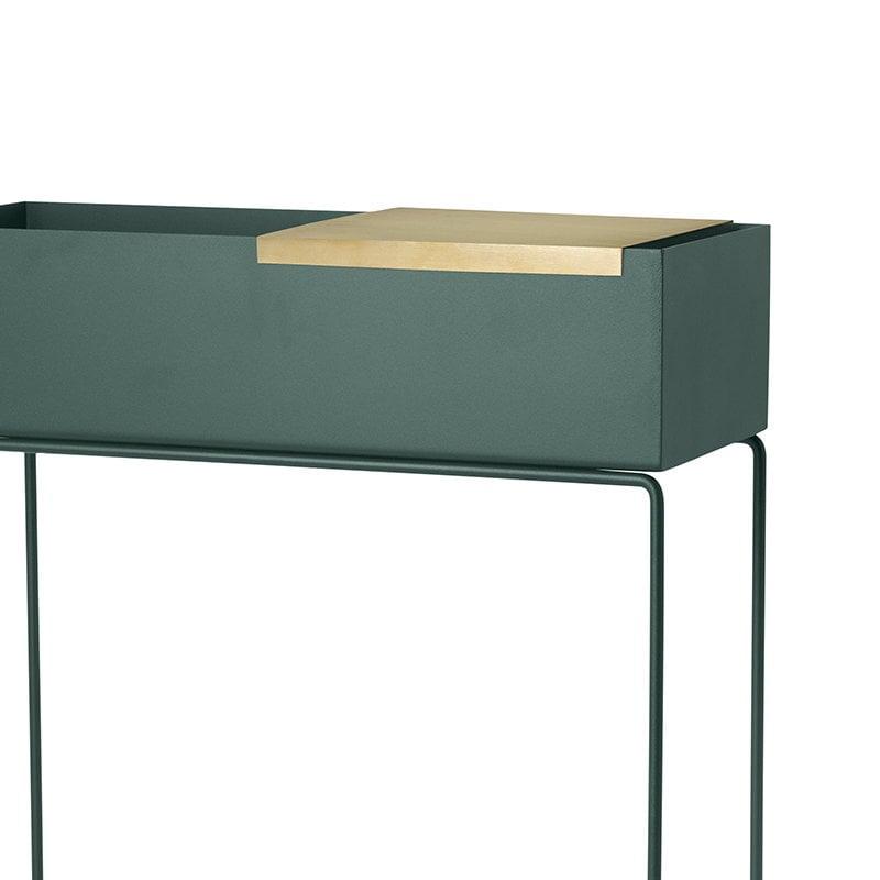 ferm living tray for plant box brass finnish design shop. Black Bedroom Furniture Sets. Home Design Ideas
