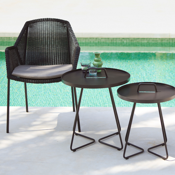 cane line breeze dining chair stackable black finnish. Black Bedroom Furniture Sets. Home Design Ideas