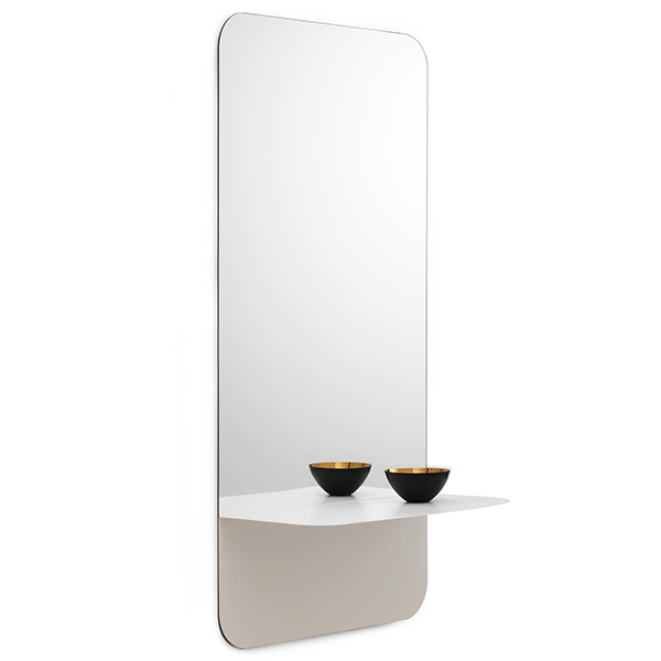 Normann copenhagen specchio horizon verticale bianco - Specchio verticale ...