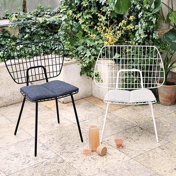 Nice WM String Dining Chair, White