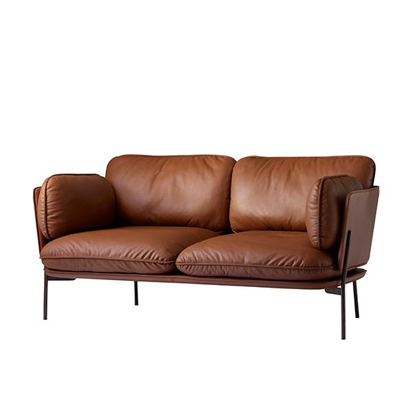 Tradition Cloud Two Seater Sofa Elmo Brown Leather