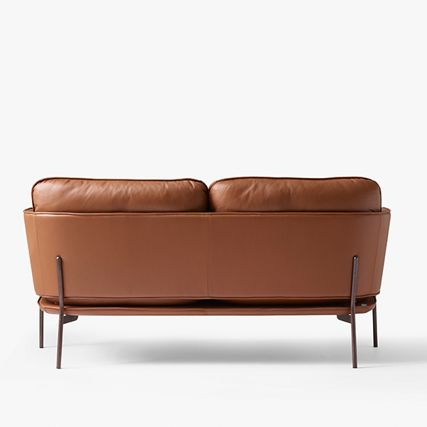 U0026Tradition Cloud Two Seater Sofa, Elmo Brown Leather