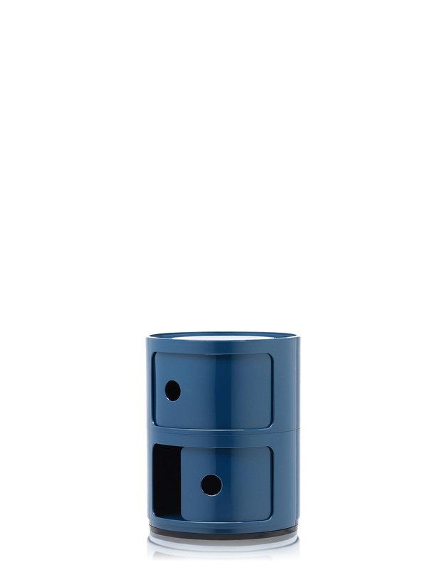 Kartell mobile contenitore componibili 2 moduli blu for Mobile contenitore