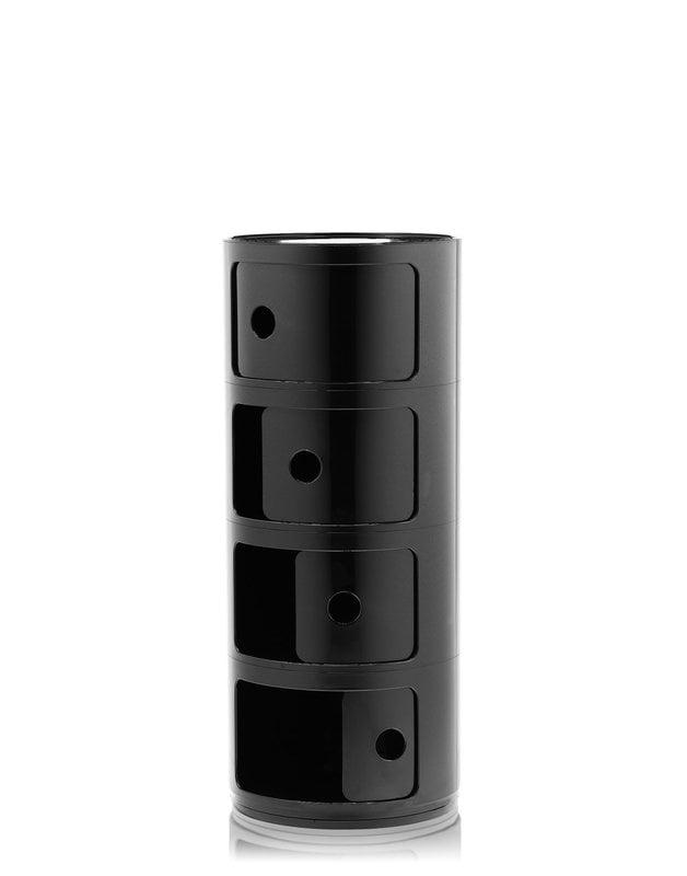 Kartell Componibili storage unit, 4 modules, black | Finnish Design Shop
