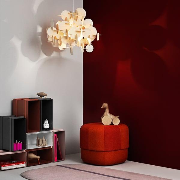 normann copenhagen bau lamp small natural finnish. Black Bedroom Furniture Sets. Home Design Ideas