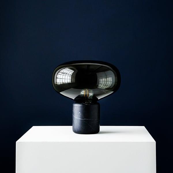 New Works Karl Johan Table Lamp Black Marble Finnish Design Shop
