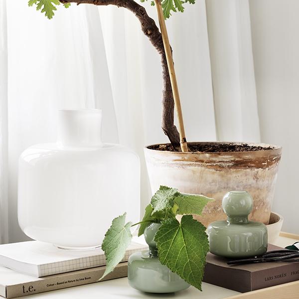 Marimekko Flower Vase Olive Finnish Design Shop