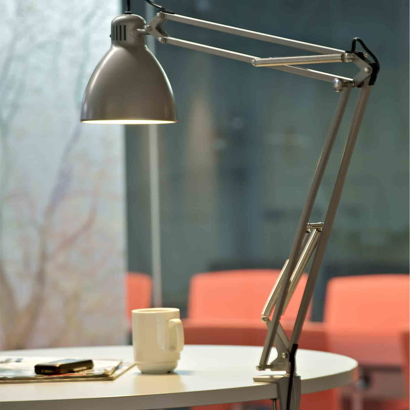 L 1 Led Architect Lamp Aluminium Grey