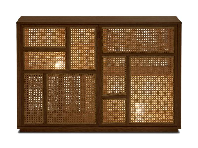 Ordinare La Credenza : Design house stockholm credenza air rovere canna finnish