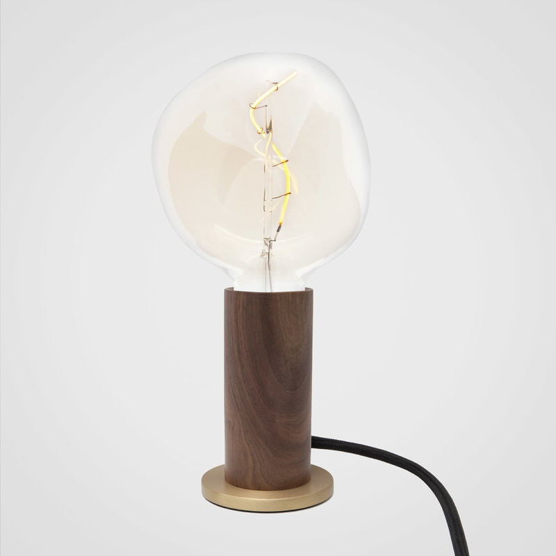 Walnut Touch Table Lamp Base