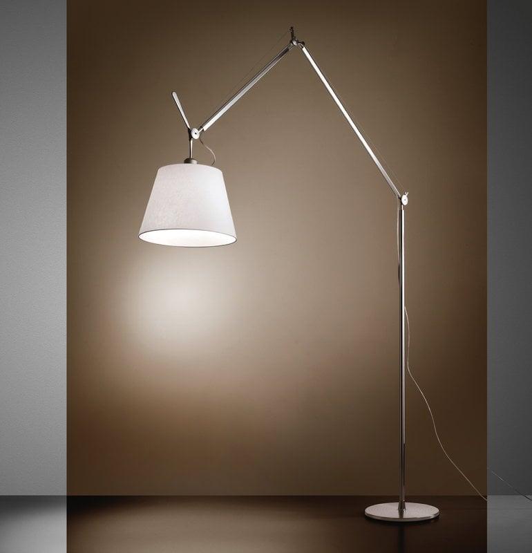 Tolomeo Mega Floor Lamp 42 Cm Aluminium Parchment