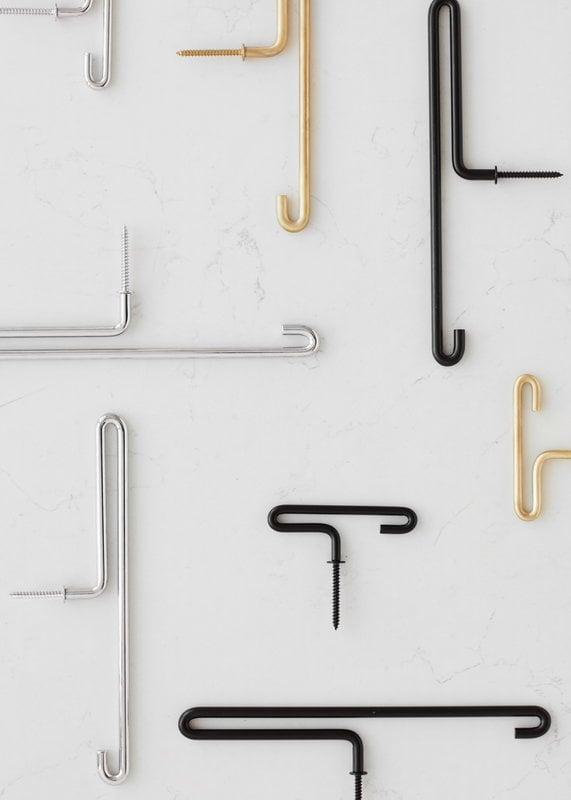 Coat Rack Hooks Wall 10//15 Hooks Stainless Steel Chrome Design